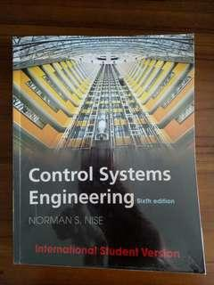 Control Systems Engineering (6th Edition) by Norman S Nise