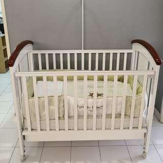 Getha Baby Cot with Latex Mattress (with free gift)
