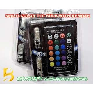 (10) T10 Bulb Multi-color & Multi-mode with Remote