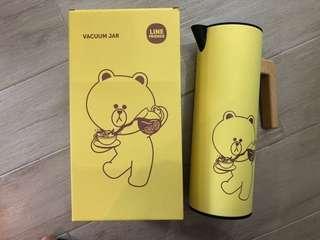 [全新包郵]Line Friends Brown 熊大 不銹鋼保溫暖水壺