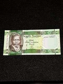 🚚 South Sudan 1 Pound (UNC)