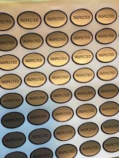 'Inspected' sticker