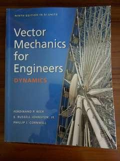 Vector Mechanics for Engineers Dynamics (9th edition) by Beer, Johnston, and Cornwell