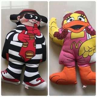 🚚 1987年麥當勞玩偶布偶四小福大鳥姐姐漢堡神偷