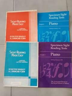 🚚 Piano Sight Reading Tests Books