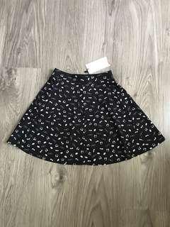 Berska Mini Skirt motif music