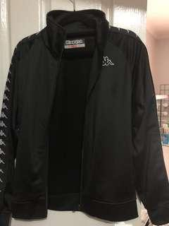 Black Kappa Zip Up Jacket