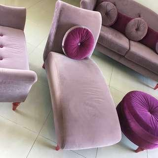 Beautiful Purple and Lilac Chaise Longue