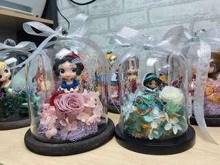 Qposket公主永生花玻璃罩🌹情人節禮物