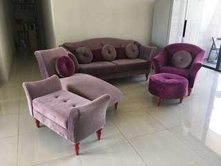 Beautiful Velvet Sitting Room Set