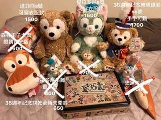 🚚 正東京海洋迪士尼達菲熊s號可穿衣服版