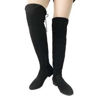 長靴 過膝 性感 大碼 US 7 大碼靴 平底鞋 有瑕疵 平賣 women boots defected SALE long booties flat shoes NO.44