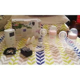 Spectra 9 Plus Breast Pump with Free Hands Free Strap and 2 Bnew Bottles with 20mm Flange