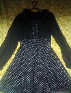 Black dotted blouse #MFEB20