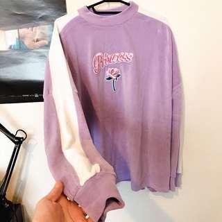 紫色絨布上衣