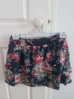 Cotton on flower skirt with pockets