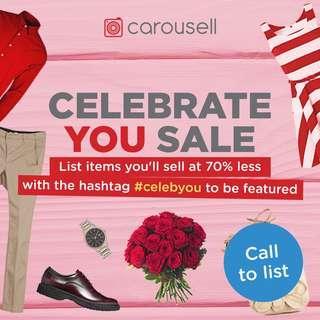 Reminders: Celebrate You Flash Sale
