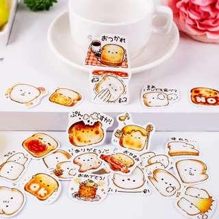[In stock] All day Toast Stickers