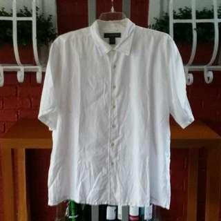 BANANA REPUBLIC White Short Sleeve Polo Size XL