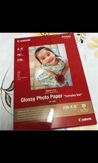 Canon 佳能 相紙  光面 pixma glossy photo paper 4x6 吋 HK$ 50 (^-^)