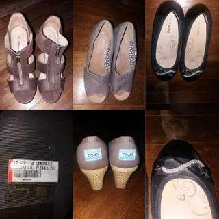 Wedge and flat doll shoes by Aldo Dr. kong and Toms