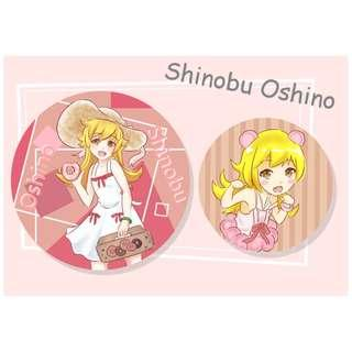 Shinobu Oshino fanart badge