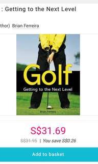 Golf book. Getting to the next level.