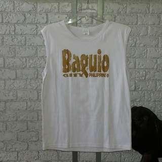 Vintage Baguio Souvenir Sleeveless Shirt Size XL