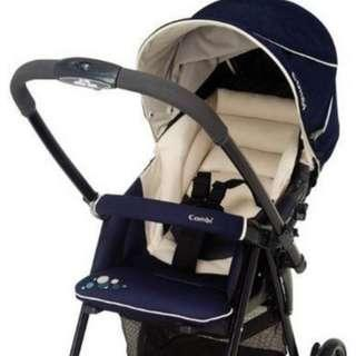 Spiffy One-Click Navy Stroller Japan-made Combi 4.6kg
