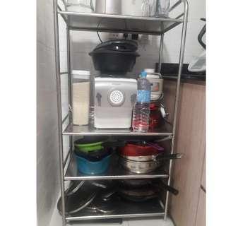4 tier Stainless Steel Rack for kitchen storage