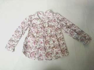 Mothercare long sleeve flowery 4-6YO