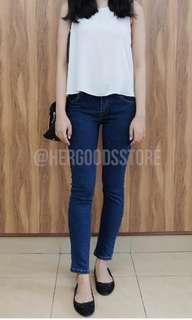 Skinny Jeans Biru Tua @hergoodsstore