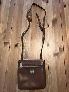 Ralph Lauren leather crossbody bag - light brown