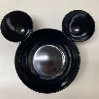 🚚 全新米奇大頭造型兒童分隔碗 環保學習餐具 水果分隔盤 黑色 容量大