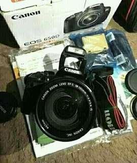 Dijual cepat camera canon eos 650d yg tercepat angkut no minus mulus