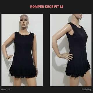 IMPORT.. ROMPER SIMPLE BLACK FIT M