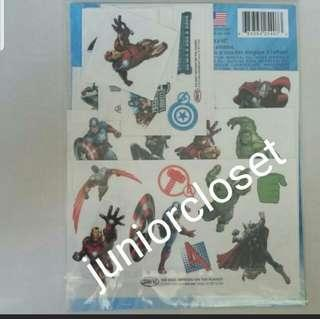 🚚 [Juniorcloset] 🆕️ Authentic 10pcs Marvel Avengers body tattoo stick on ( Direct from USA)