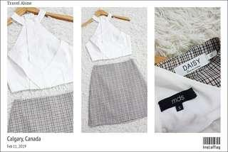 BRANDED...TOP+SKIRT SIZE S