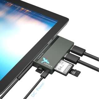 OEM Surface Pro/ Windows/Android OS 6-in-1 USB3.0 & 2.0 HUB and Reader, SD/TF Ports