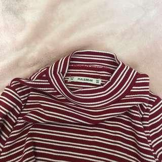 PULL&BEAR STRIPES RED TOP