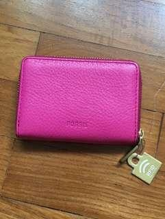 🚚 Fossil hot pink coin pouch wallet