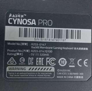 Original Razer Cynosa Pro keyboard