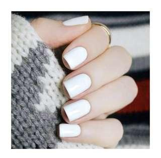 Reusable Fake Nails - Classic White