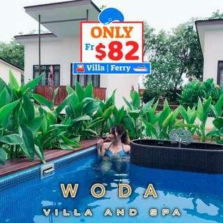 2D1N Woda Villa & SPA Stay + 2-Way Ferry