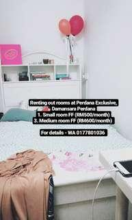 Small & Medium Rooms Perdana Exclusive (Damansara Perdana)