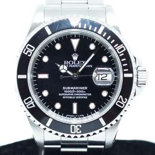 Preowned Rolex Submariner Date in Stainless Steel Ref: 16610
