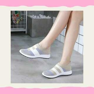 Local Shoes Strip Grey