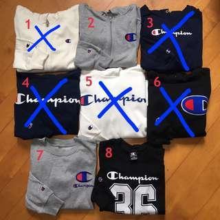 Champion大童裝衛衣