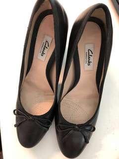 Clarks Shoes Black Heels