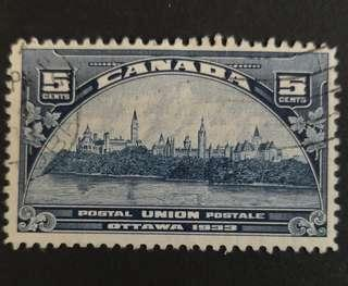 🚚 Canada 1933. Universal Postal Union Executive Committee Meeting complete set of 1 stamp